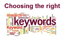 Important things to know when choosing keywords